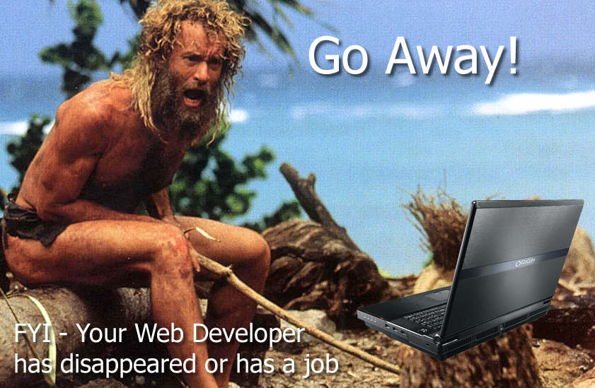 web developer is missing